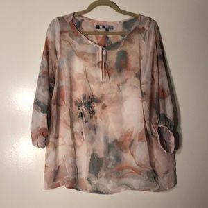 J Lo sheer blouse